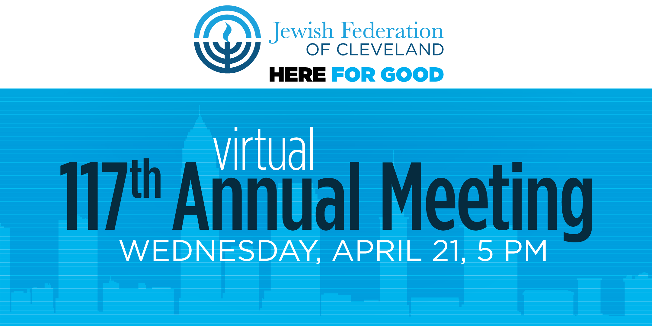 117th Annual Meeting of the Jewish Federation of Cleveland Set for April 21