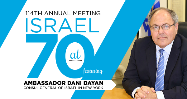 Kohrman to Receive Eisenman Award, Dayan to Speak at Federation Annual Meeting