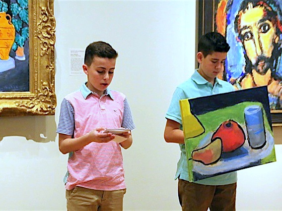 Mandel JDS Students Act as Museum Docents