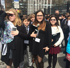 Mandel JDS Students Compete in Model U.N. Convention in New York City