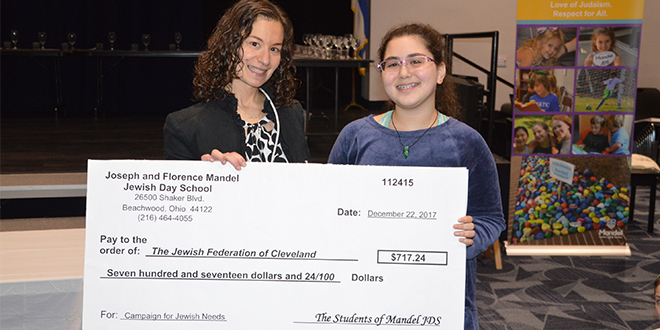 Penny Wars: Mandel JDS Students Donate to Jewish Federation