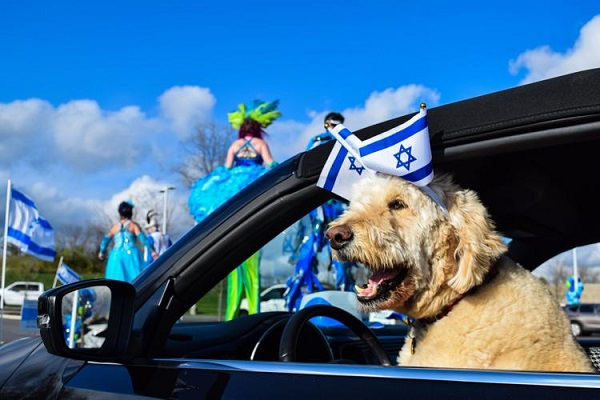 Hundreds Celebrate Israel's 73rd Birthday