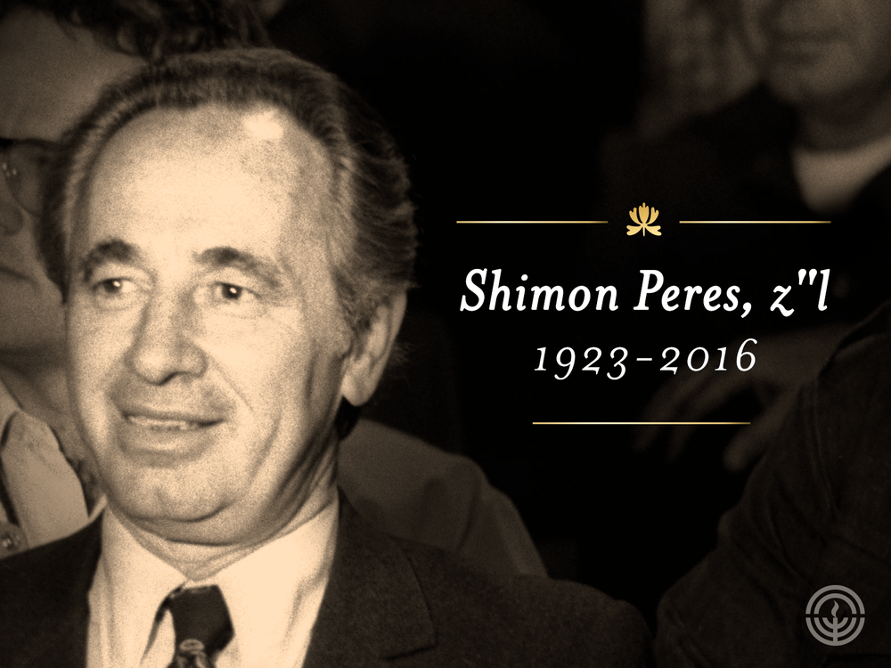 Federations Mourn Loss of Peres